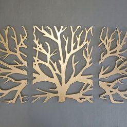 تابلو سه تکه شیک درخت